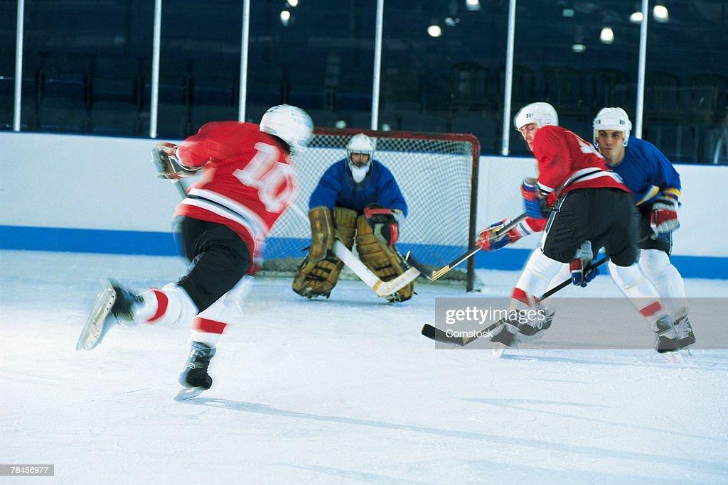 Ice hockey game : Stock Photo