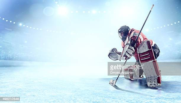 ice hockey goalie - ice hockey stock pictures, royalty-free photos & images