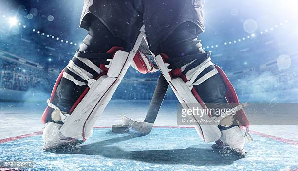 ice hockey goalie - goalkeeper stock pictures, royalty-free photos & images