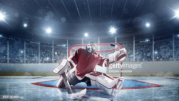 ice hockey goalie - hockey stock pictures, royalty-free photos & images
