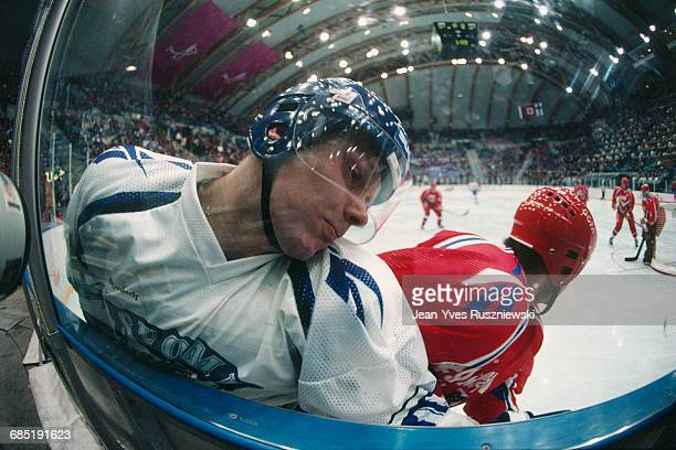 Ice hockey match between Finland and Russia at the 1994 Winter Olympics