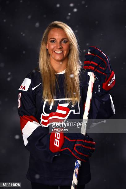 Ice Hockey player Amanda Kessel poses for a portrait during the Team USA Media Summit ahead of the PyeongChang 2018 Olympic Winter Games on September...
