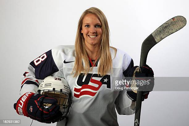 Ice Hockey player Amanda Kessel poses for a portrait during the USOC Media Summit ahead of the Sochi 2014 Winter Olympics on October 2 2013 in Park...