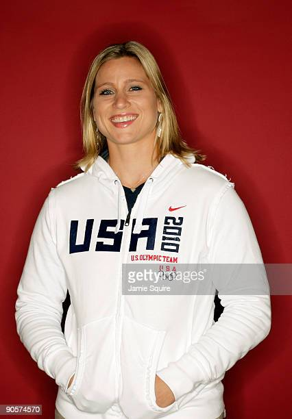 Ice Hockey player Angela Ruggiero poses for a portrait during the 2010 U.S. Olympic Team Media Summit at the Palmer House Hilton on September 10,...