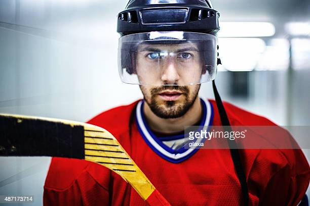 ice hockey player before the game. - ice hockey stick stock pictures, royalty-free photos & images