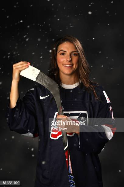 Ice Hockey player Hilary Knight poses for a portrait during the Team USA Media Summit ahead of the PyeongChang 2018 Olympic Winter Games on September...