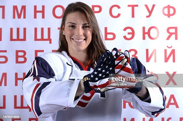 Ice Hockey player Hilary Knight poses for a portrait during the USOC Media Summit ahead of the Sochi 2014 Winter Olympics on October 2 2013 in Park...