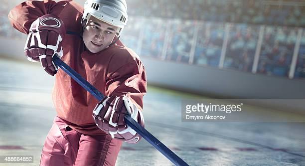 Joueur de hockey sur glace en action