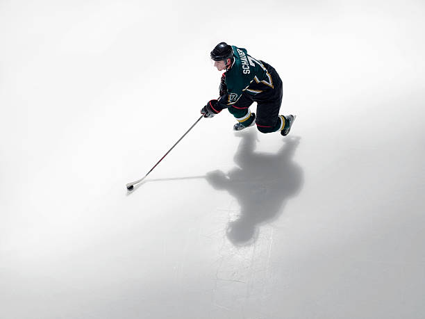 Ice Hockey Player In Possession Of Puck Wall Art