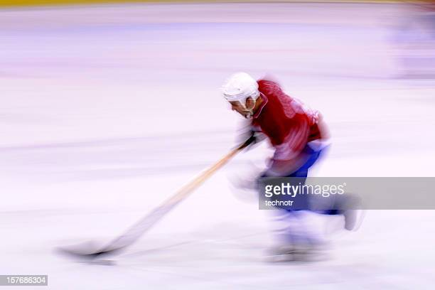 Ice hockey player in the action