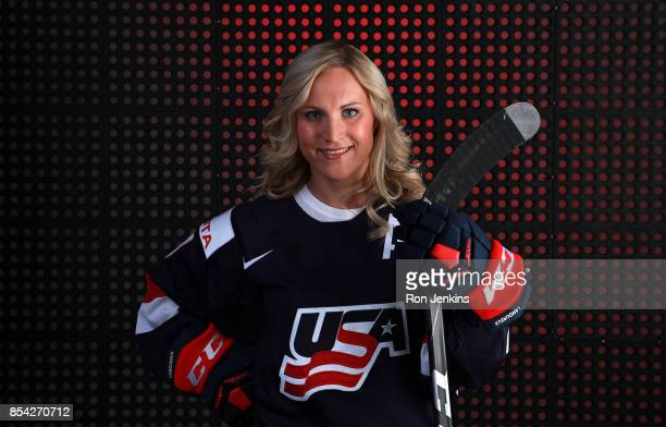 Ice Hockey player Monique LamoureuxMorando poses for a portrait during the Team USA Media Summit ahead of the PyeongChang 2018 Olympic Winter Games...