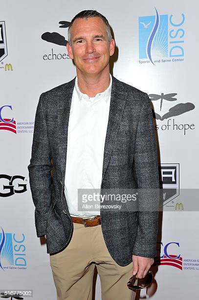 Ice hockey player Pierre Turgeon attends the Luc Robitaille Celebrity Shootout at Toyota Sports Center on March 20 2016 in El Segundo California