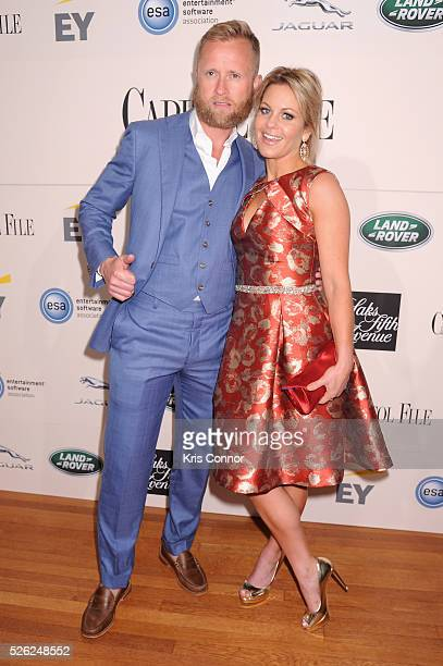 Ice hockey player Valeri Bure and actress Candace CameronBure attend the Capitol File's WHCD Welcome Reception at British Ambassador's Residence on...