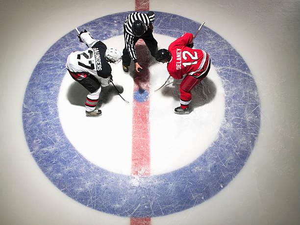 Ice Hockey Players Facing Off Wall Art