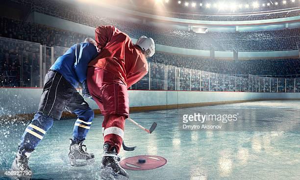 Eishockey-Spieler in Aktion