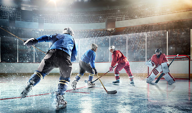 Ice Hockey Players In Action Wall Art