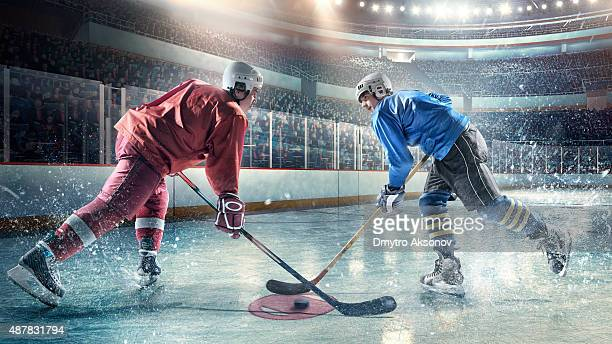 Eishockey-Spieler in Aktion