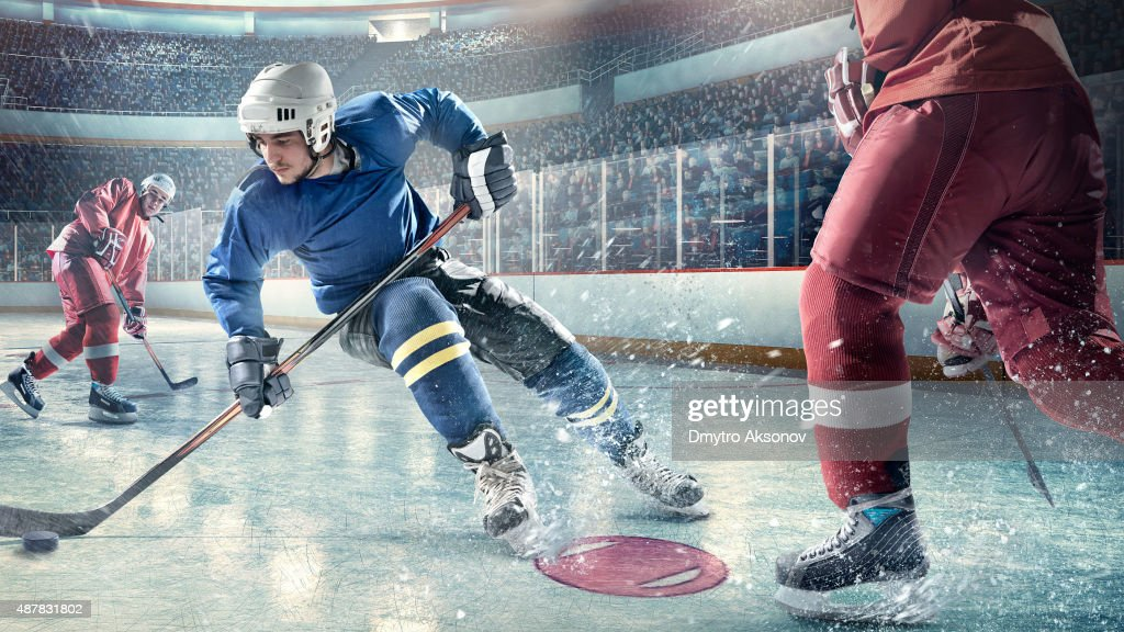 Eishockey-Spieler in Aktion : Stock-Foto