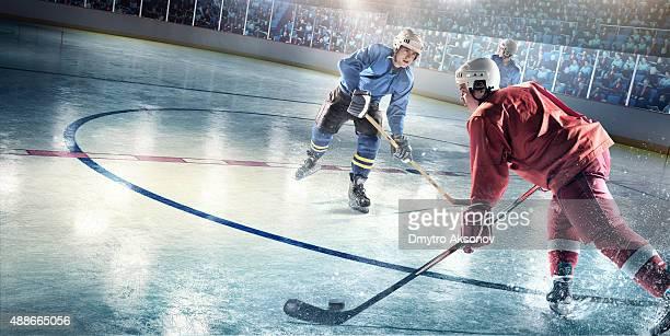 Joueur de hockey sur glace des joueurs en action