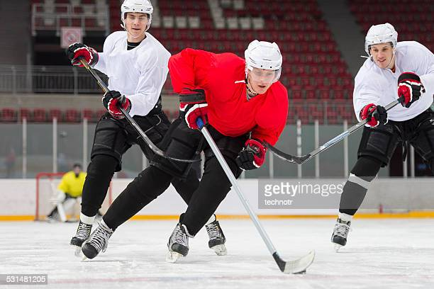 ice hockey players in the action - ice hockey player stock pictures, royalty-free photos & images