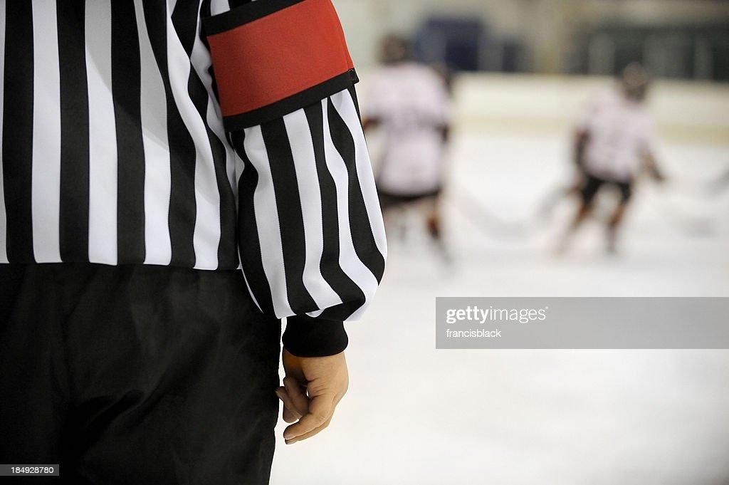 Ice hockey referee : Stock Photo