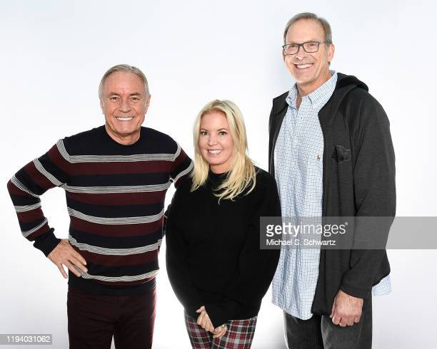 Ice House owner Johnny Buss, President of the Los Angeles Lakers Jeanie Buss and former Lakers star Kurt Rambis pose during their attendance at The...