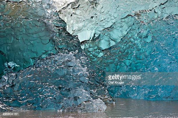 Ice in various shades of blue, glacial ice avalanche, Arktischer Ozea, Spitsbergen Island, Svalbard Archipelago, Svalbard and Jan Mayen, Norway