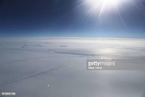Ice is seen from NASA's Operation IceBridge research aircraft in the Antarctic Peninsula region on November 4 above Antarctica NASA's Operation...