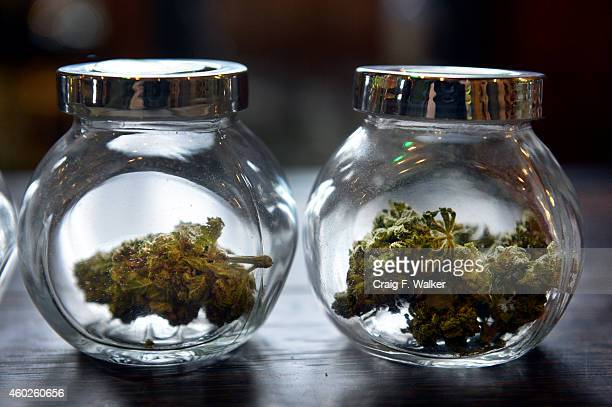 Ice Kush and Super Chem Tange were for sale La Conte's Clone Bar Dispensary during a marijuana tour hosted by My 420 Tours in Denver CO on December...