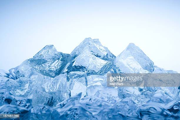 ice mountain - heap stock pictures, royalty-free photos & images
