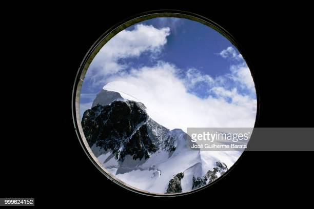 ice mountain - porthole stock photos and pictures