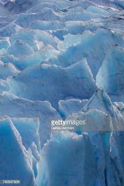 Ice of Portage Glacier, Alaska, USA