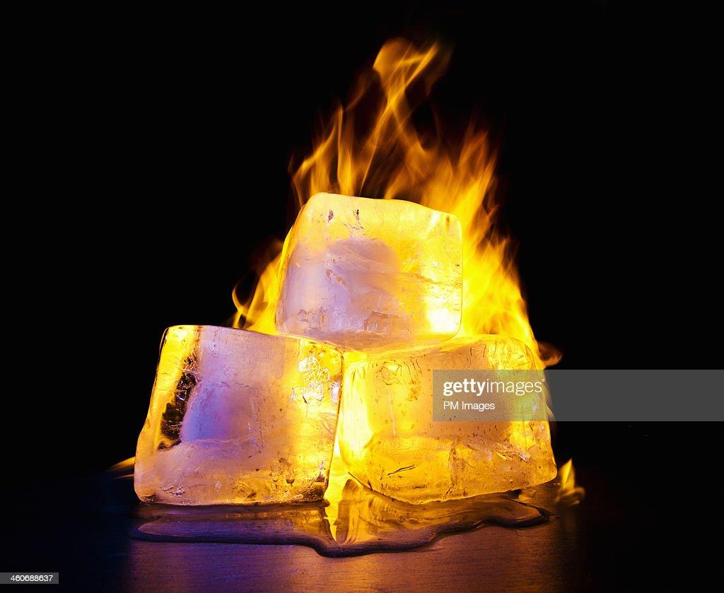 Ice On Fire : Stock Photo