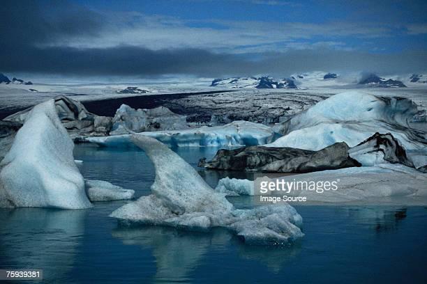 Ice on jokullsarlon lake iceland