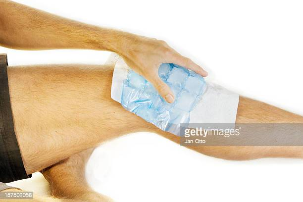 Ice on knee joint