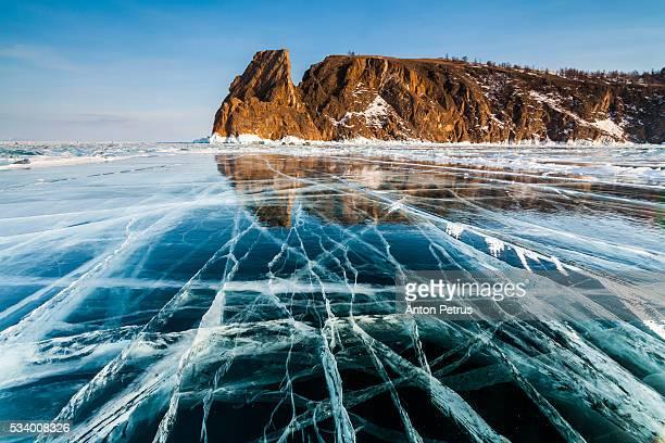 Ice on Lake Baikal.