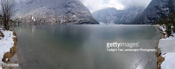 Ice on lake Königssee in Germany