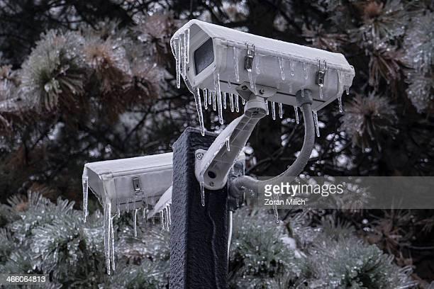 Ice on surveillance camera