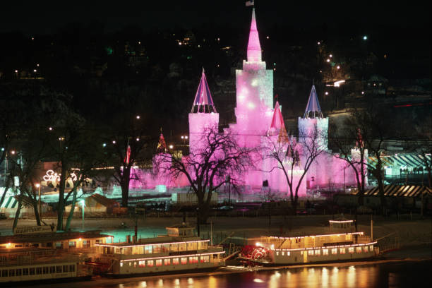 Ice Palace at St. Paul's 100th Winter Carnival