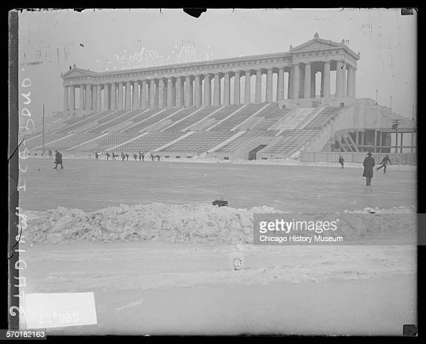 Ice pond at Soldier Field Chicago Illinois 1925