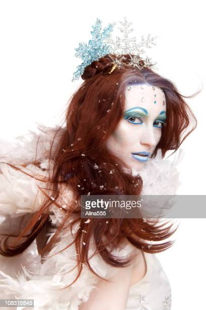 Ice queen on white
