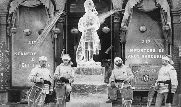Ice Sculpture During Winter Carnival