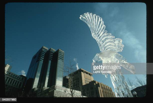 Ice Sculpture in Downtown St. Paul