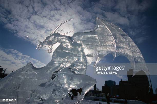 Ice Sculpture of Dragon