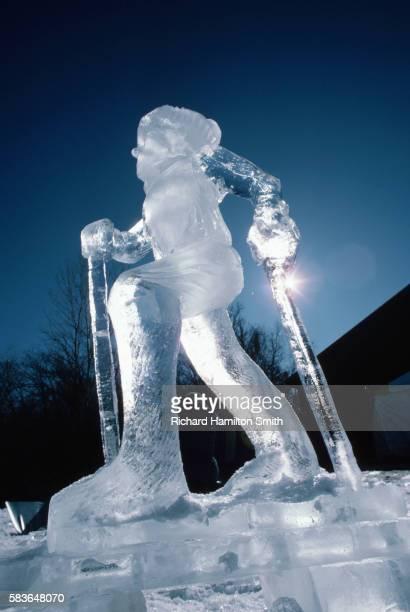 Ice Sculpture of Skier