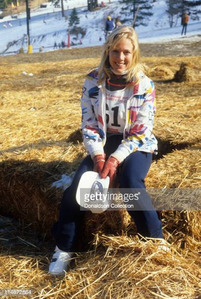 Ice Skater and actress LynnHolly Johnson poses for a portrait in circa 1980 in Los Angeles California