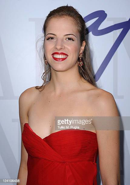 Ice skater Carolina Kostner visits the Lancia Cafe during the 68th Venice Film Festival on September 8 2011 in Venice Italy