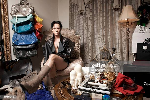 Ice Skater Johnny Weir poses for People Magazine on December 17 2010 in Lyndhurst New Jersey