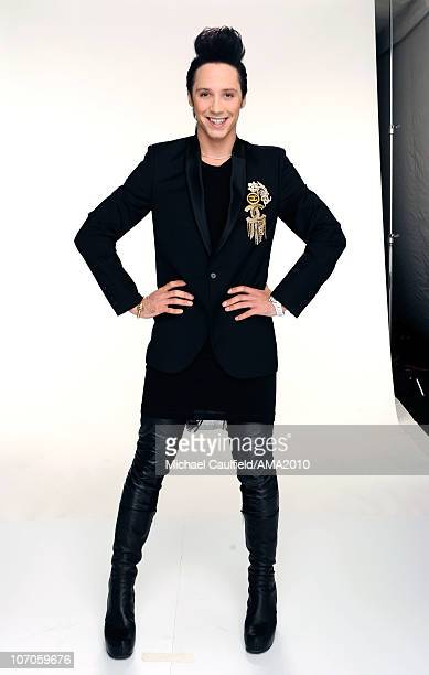 Ice Skater Johnny Wier poses for a portrait during the 2010 American Music Awards held at Nokia Theatre LA Live on November 21 2010 in Los Angeles...