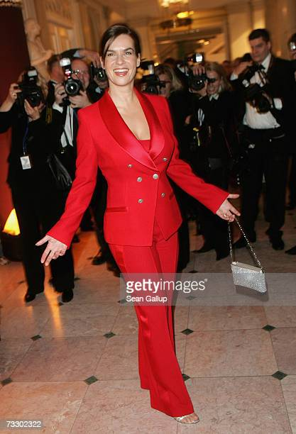 Ice skater Katarina Witt attends the Cinema for Peace Charity Gala on 12 February 2007 in Berlin Germany The gala is traditionally held during the...